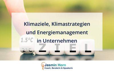 Klimaziele, Klimastrategien und Energiemanagement in Unternehmen