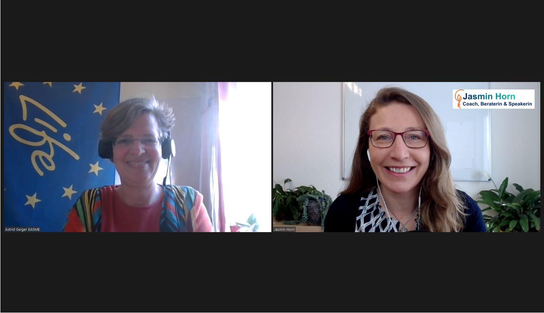 Podcast_Sustainable Business Champions_Fördermittel für dein Nachhaltigkeitsprojekt - das EU-Förderprogramm LIFE_Jasmin Horn und Astrid Geiger- Screenshot